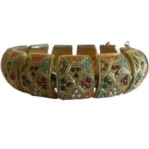 🇨🇦 Vintage 80s D'orlan 22k gold plated bracelet
